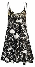 Womens Printed Cami Ladies Summer Swing Mini Dress Long Top Plus Size vest 8-26