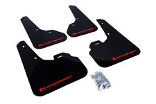 RallyArmor Black Mud Flaps (Red Logo) for 2010-13 Mazda 3/ Speed 3