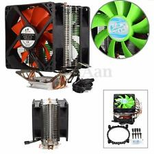DUAL FAN CPU Raffreddamento Cooler Dissipatore per Intel lga775/1156/1155 AMD am2/am2+/am3