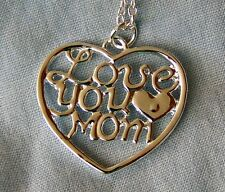 LOVE _ YOU _ MOM ~  NECKLACE -- (GREAT _CHRISTMAS_ GIFT)