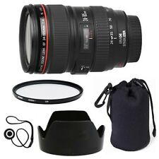 Canon EF 24-105mm f/4 L IS USM Lens + Lens Hood + Case + UV Filter + Warranty