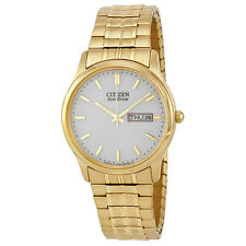 Citizen Mens Bracelet Eco Drive Flexible Band Gold-tone Watch BM8452-99P
