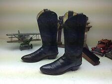 MADE IN USA TONY LAMA BLACK LEATHER WESTERN COWBOY DANCE BOOTS SIZE 8