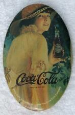 "1984 USA COKE COCA-COLA VICTORIAN WOMAN HANDHELD POCKET MIRROR 2-3/4"" x 1-3/4"""