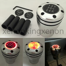 JDM Manual Transmission RED LED Light Silver Sport Gear Stick #f17 Shift Knob