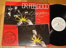 """DR FEELGOOD ~ AS IT HAPPENS ~ LEE BRILLEAUX ~ AUTHENTIC HAND SIGNED UK LP + 7"""""""