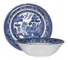 CHURCHILL BLUE WILLOW 6 CEREAL BOWLS 15cm - NEW/UNUSED