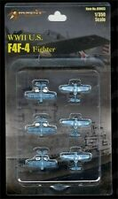 WWII F4F-4 Fighter 1/350 Scale Mini Models (Set of 6) *US Seller*
