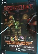 Star Wars SDCC LEGO STAR WARS MINI FIGURE REVENGE OF THE BRICK PROMO POSTER