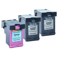 3PK 60XL Black Color Ink For HP Deskjet F2400 F2420 F2423 F2430 F2480 F2483
