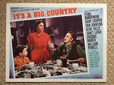 IT'S A BIG COUNTRY Orig Lobby Card ETHEL BARRYMORE MARJORIE MAIN LEWIS STONE
