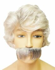 MARK TWAIN WIG & MOUSTACHE OLD MAN COSTUME CA68