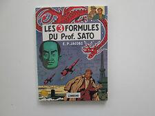 BLAKE ET MORTIMER  3 FORMULES DU PROFESSEUR SATO EO1977 TBE EDITION ORIGINALE