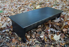 """Handcrafted Heavy Duty Step Stool 27"""" L, 8.5"""" h, Wood Bedside, Black Ebony stain"""