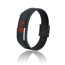 Mens Watches Rubber Red LED Watch Date Sports Bracelet Digital Watch UNISEX GIFT