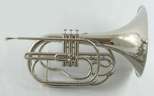 Schiller Field Series Marching French Horn Nickel Plated