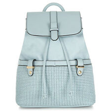 NWT Accessorize Pastel Blue Leather Backpack