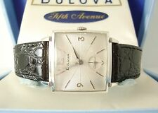 Vintage Bulova Men's Watch c1960, Serviced Mechanical, Original Box, New Strap