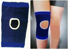2 Medium Elasticated Blue Open Knee Support Pad Brace Sleeve Bandage Leg Thigh M