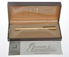 vintage 1977 Dunhill Montblanc gold fountain pen new old stock pristine in box
