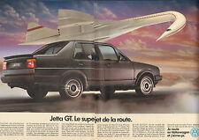 Publicité Advertising 1986  ( Double page )  VOLKSWAGEN JETTA GT  VW