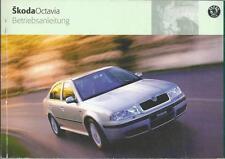 SKODA OCTAVIA 1 Betriebsanleitung 2002 Bedienungsanleitung Handbuch Bordbuch BA