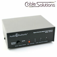 TOSLink/Coaxial Digital Auto Switcher/Switch SPDIF Audio Authority 1177A-1 GSP