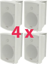 4x SPEAKERS Weatherproof IN/OUTDOOR GARDEN 130W WALL MOUNT 100V / 8 ohms 952.961