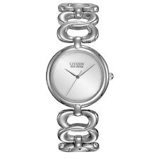 NEW Ladies Citizen EM0220-53A Eco-Drive Stainless Steel Bracelet Bangle Watch