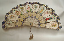 Rare Antique 1896 THE VIOLET Victorian Folding Paper Fan Calendar