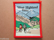 West Highland Way Woven Cloth Patch Badge