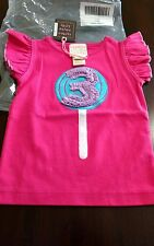 NWT Lemon Loves Lime spring summer birthday lollipop with 3 hot pink tank size 3