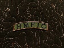 HMFIC woodland camouflage tab patch Velcro® backing rocker army morale patch