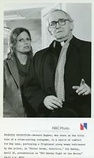 KAY LENZ BARNARD HUGHES PORTRAIT FATHER BROWN DETECTIVE 1979 NBC TV PHOTO