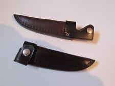 Messerscheide STILETTMSCHEIDE Braun für Jagdnicker Messer Solingen 10 cm Klinge.