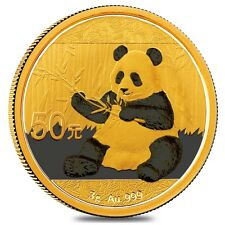 2017 3 Gram Chinese Gold Panda 50 Yuan .999 Fine BU (Sealed)