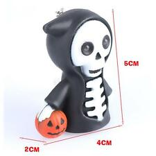 Cute Skull LED Light Scary Sound Keyring Keychain Toy Halloween Party Favor