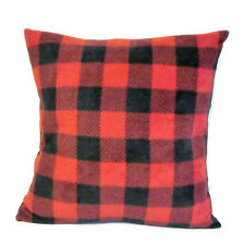 Red Buffalo Check Plaid Rustic Style Pillow Cover Sham 14 X 14