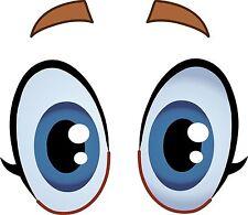 EYES CARTOON DIVERTENTE Eyeballs occhi Auto Adesivo Decalcomania Grafica Vinile etichetta V5
