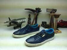 BLUE PUMA REAL LEATHER DRIVING SHOES SNEAKERS SIZE 16M