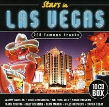 10 CDs STARS IN LAS VEGAS 200 Tracks Rat Pack Cole Vaughan Eckstine Cugat Mills+