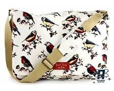 NEW VINTAGE STYLE BIRD SONG WHITE MESSENGER WOMEN SHOULDER BAG
