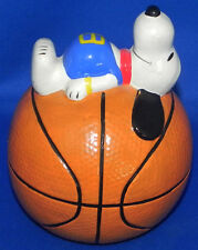 Vintage Snoopy on Basketball Coin Bank 1976 Peanuts Sports Series