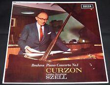 DECCA SXL 6023 WBG ED1! 1962 BRAHMS PIANO CONCERTO No. 1 CURZON SZELL LSO LP NM!