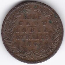 1862 Straits Settlements 1/2 Cent***Collectors***