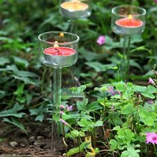 Outdoor Glass Candle Holder Candlestick for Camping Garden Beach Sea Night Party