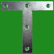 """10x 75mm (3"""") Tee Plates T Mending Bracket Brace Support Fixing Joining Repair"""