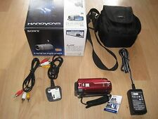 Sony DCR-SX30 Digital Camcorder RED, Touch Screen, Boxed, 2 X Batteries, Bag,