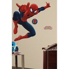 New GIANT ULTIMATE SPIDERMAN WALL DECALS Spider-man Room Stickers Boys Decor