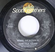 Pop 45 John Paul Young - Where The Action Is / Love Is In The Air On Scotti Brot